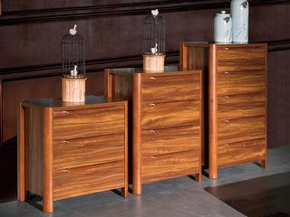 中式风格 泰国进口橡胶木 柚木色  四斗柜