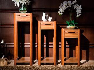 宸轩 中式风格 泰国进口橡胶木 柚木色  小花架