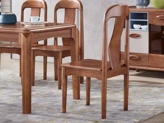 宸轩 中式风格 泰国进口橡胶木 胡桃色 9602 餐椅