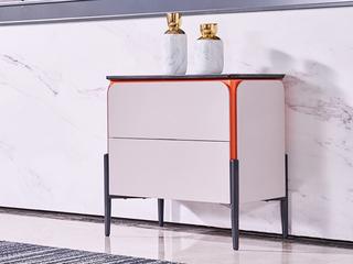极简风格 岩板台面 二斗柜