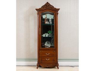 博洛妮亚 进口桃花芯木 美式古典华丽棕颜色 单门酒柜储物柜