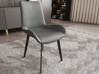 菲格 极简风格 高品质磨砂皮 碳素钢椅脚 餐椅(2把起售,不单卖)