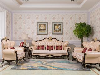 博洛妮亚 达西先生系列 新古典风格 进品优质桃花芯+头层牛皮 触感极佳 王者风范 1+2+3沙发组合