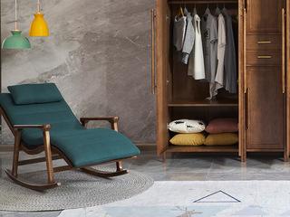 木之忆 北欧风格 精选优质白蜡木 亲肤面料 舒适座包 摇椅