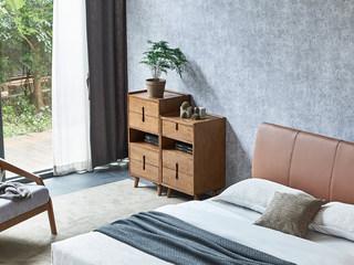 北欧风格 精选白蜡木 优雅木纹 实木臻品 光滑细腻触感 储物四斗柜
