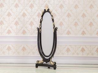 博洛妮亚 进口桃花芯木实木黑檀色礼仪镜穿衣镜