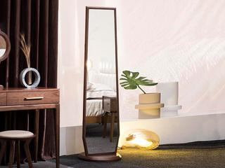 源木时光 北欧风情 清晰天然木纹 细腻胡桃木 1.6m穿衣镜