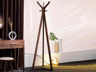 源木时光 北欧风格 优质胡桃木 稳定三角结构 衣帽架