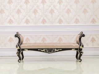 博洛妮亚 进口桃花芯木新古典床实木床尾凳