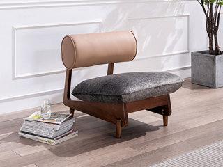 源木时光 北欧风格 北美进口白蜡木框架 科技布 休闲椅