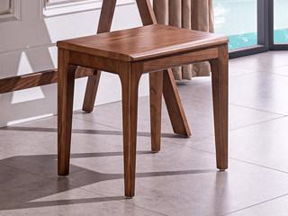 源木时光 北欧风格 北美进口白蜡木 妆凳