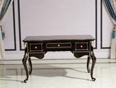 博洛妮亚 进口桃花芯木新古典复古钢琴烤漆工艺书桌