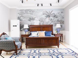 博洛妮亚 进口桃花芯木美式床双人床1葫芦脚.8米实木床