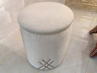 美克世家 简美风格 北美进口榉木坚固框架 棉绒布面料 布凳
