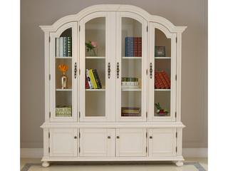 博洛妮亚 进口桃花芯木四门书柜可储物