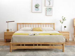 北欧风格2135实木床1.8