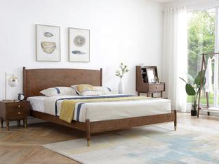 北欧风格2160轻奢实木床1.8