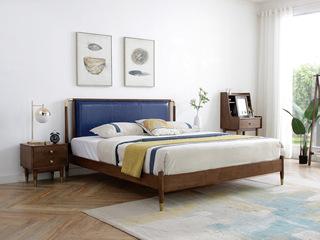 北欧风格2161轻奢实木床1.8