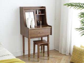 北欧风格2168轻奢妆台+2169轻奢小方凳