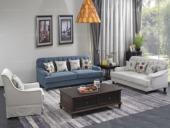 宏宇家私 现代简约风格 舒适透气棉麻布艺沙发 全实木框架 质朴自然 内置超软高密度海绵坐包沙发组合(1+2+3)