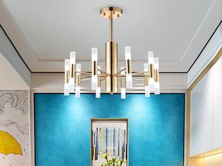 后现代艺术吊灯 创意个性客厅大气餐厅咖啡厅酒店会所别墅装饰吊灯 金色  20头