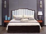 宏宇家私 新中式全实木进口黄杨木 水性漆喷涂 高端中式家具 中式主卧大床婚床轻奢家具 1.8床(此款为普通床 图为高箱)