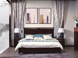 宏宇家私 新中式实木双人床1.5米进口黄杨木 水性油漆 传统榫卯结构 主次卧大床婚床轻奢家具