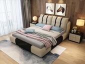 皮坊工艺 布艺系列 现代简约风格 超透气软体 放松一晚 1.8米床