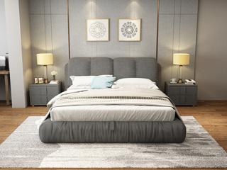 布艺系列 现代简约风格 超透气软体 放松一晚 1.8米床