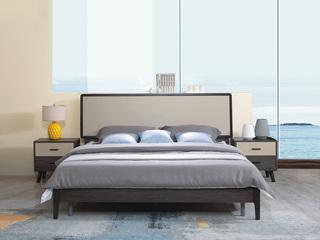 宏宇家私 北欧风尚韩式风格 进口黄杨木+e1级中纤板 热销款 1.8米床