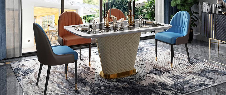 慕梵希 轻奢大理石餐桌