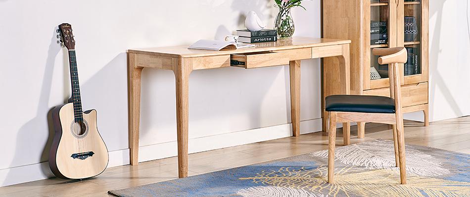 荣之鼎 北欧实木书桌