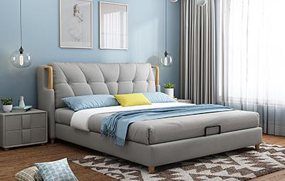 皮坊工艺 现代简约风格 超透气软体床