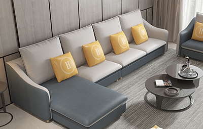 纾康 现代风格 科技布 多种组合配色沙发