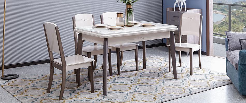 家百利 现代简约 大理石餐桌