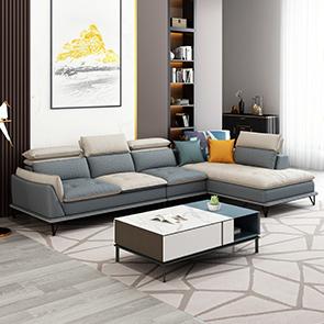纾康 极简风格 科技布双色沙发