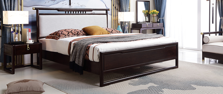 东方印记 新中式风格 实木床