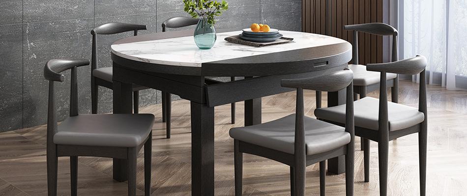 米勒 现代简约 大理石餐桌