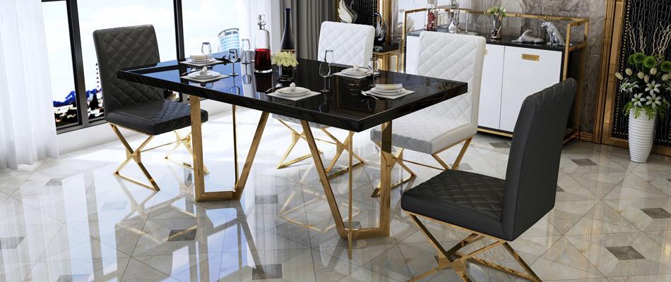 慕梵希 轻奢 钢化玻璃书桌